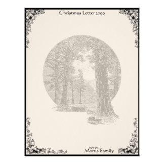 Vintage Redwood Trees Christmas 2009 Letterhead