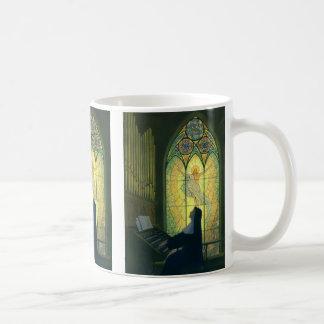 Vintage Religion, Nun Playing an Organ in Church Coffee Mug