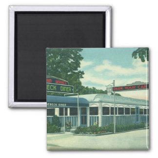 Vintage Restaurant, Retro Rhinebeck Roadside Diner Magnet