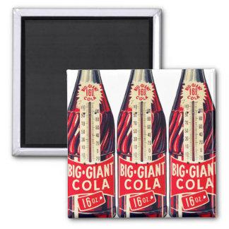 Vintage Retro Big Giant Soda Bottle Thermometer Square Magnet