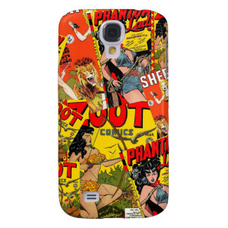 Vintage Retro Comic book Galaxy S4 Covers