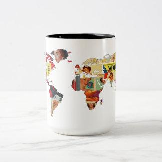 Vintage Retro | Evolving Beauty | World Map Mug