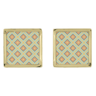 vintage retro pattern elegant cufflinks gold finish cufflinks