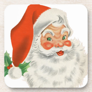 Vintage Retro Santa Claus Drink Coaster