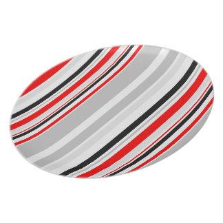 Vintage Retro Stripes Pattern Stripes Plate #3