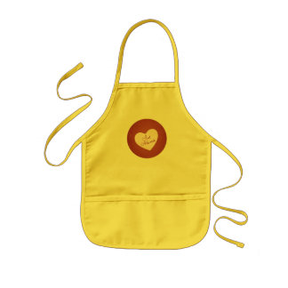 Vintage Retro Style Just Married On Antique Red Aprons