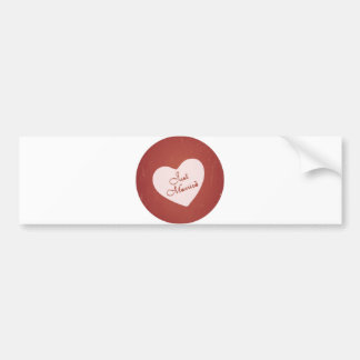 Vintage Retro Style Just Married On Antique Red Bumper Sticker