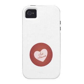 Vintage Retro Style Just Married On Antique Red Case-Mate iPhone 4 Cover