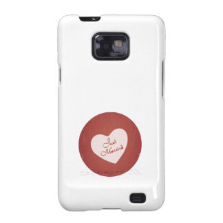 Vintage Retro Style Just Married On Antique Red Samsung Galaxy S2 Case