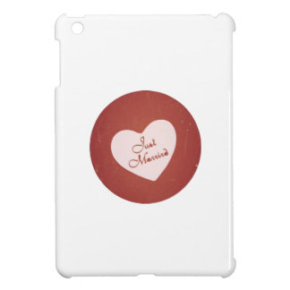 Vintage Retro Style Just Married On Antique Red iPad Mini Case