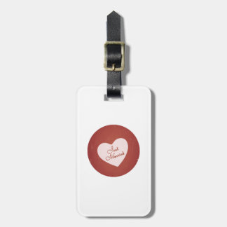 Vintage Retro Style Just Married On Antique Red Tag For Bags