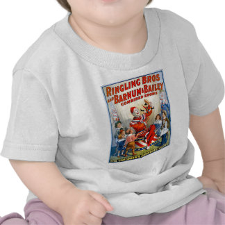 Vintage Ringling Brothers Clown Circus Poster Kids Tees