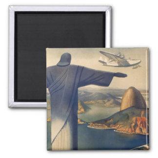 Vintage Rio De Janeiro, Christ the Redeemer Statue Magnet