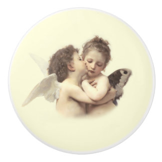 Vintage Romance First Kiss Ceramic Knob