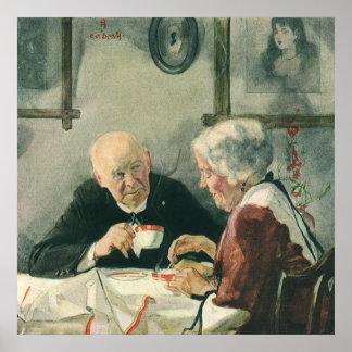 Vintage Romance, Grandparents in Love Poster