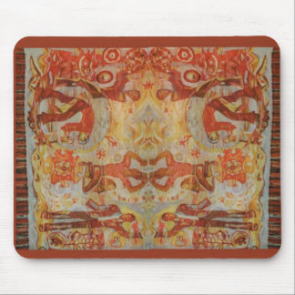Vintage Romanian embroidery, traditional design Mouse Pad