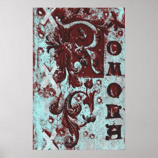 Vintage Romola Book Cover Grunge Poster
