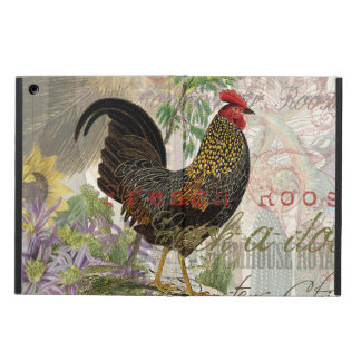 Vintage Rooster French Collage Case For iPad Air