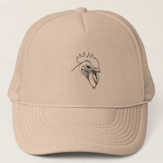 Vintage Rooster Illustraton Trucker Hat