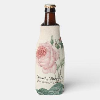 Vintage Rose 95th Birthday Celebration Bottle Bottle Cooler