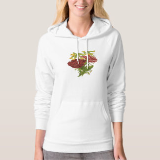 Vintage Rose Bouquet Hooded Pullovers