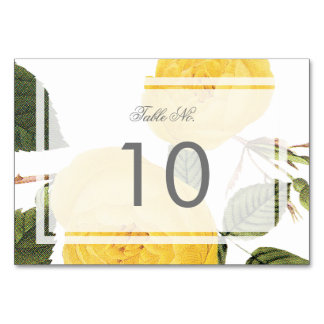 Vintage Rose Garden Table Number Card -white Table Cards