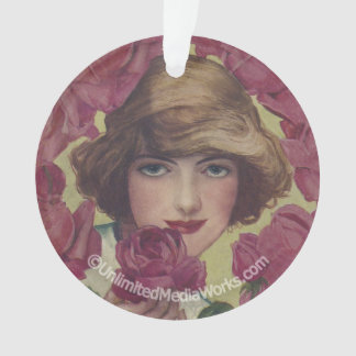 Vintage Rose Girl Ornament