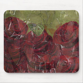 Vintage Roses Oil Grunge Mouse Pad