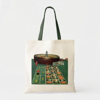 Vintage Roulette Table Casino Game, Gambling Chips Tote Bag