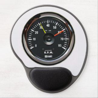 Vintage Round Analog Auto Tachometer Mousepad Gel Mouse Pad