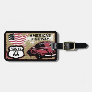Vintage Route US 66 Luggage Tag