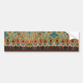 Vintage Rumanian Fabric design Bumper Sticker