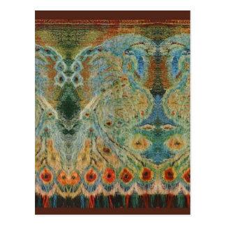 Vintage Rumanian Fabric design Post Cards