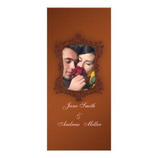 Vintage rustic brown photo Wedding Programs Personalized Rack Card