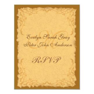 Vintage rustic country floral rsvp wedding 11 cm x 14 cm invitation card
