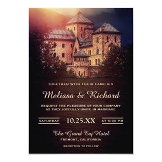 Vintage Rustic Fairytale Castle Wedding Invitation