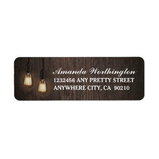 Vintage Rustic Lights Chic Wedding Address Labels
