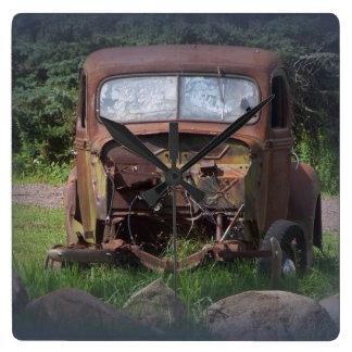 Vintage Rusty Auto Wall Clock