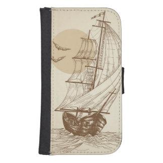 Vintage sailboat samsung s4 wallet case