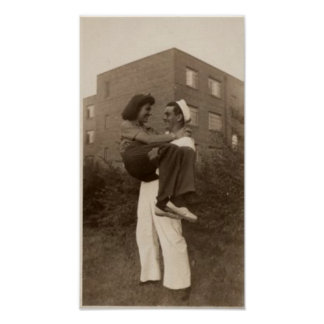 Vintage Sailor and Girlfriend Poster