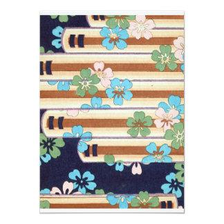 Vintage Sakura Flowers 13 Cm X 18 Cm Invitation Card