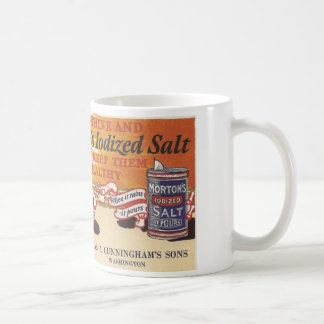 Vintage Salt Ad Washington, Iowa Basic White Mug