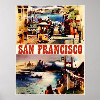 Vintage San Francisco Travel Poster