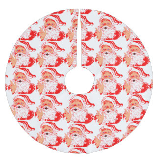 Vintage Santa Claus Brushed Polyester Tree Skirt