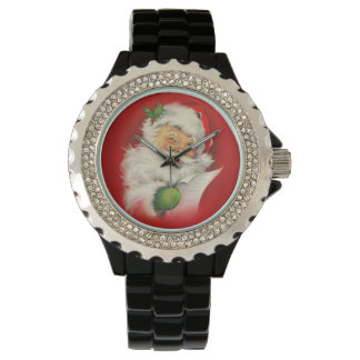 Vintage Santa Claus Christmas Watch