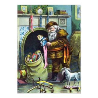 Vintage Santa Claus Toy Christmas Party Invitation