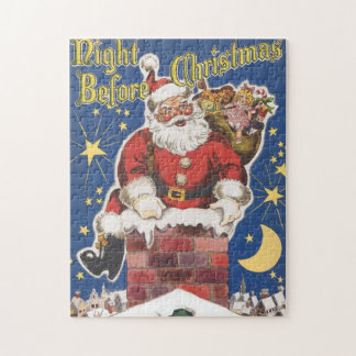 Vintage Santa Claus, Twas Night Before Christmas Jigsaw Puzzle