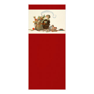 Vintage Santa Elf With Pipe and Sack of Toys Personalized Invite