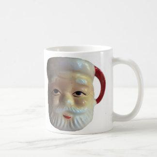 Vintage Santa Mug Mug Eyes Wide Open