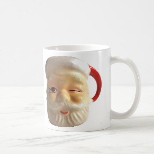 Vintage Santa Mug Mug (Winking)